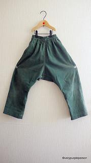 Green corduroy sarouel