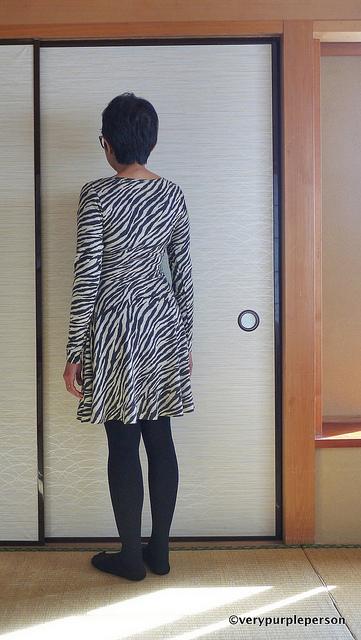 Zebra print lady skater