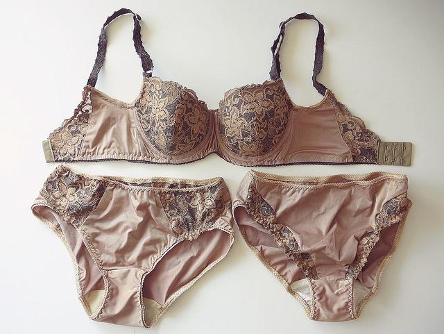 Bronze bra and panties set