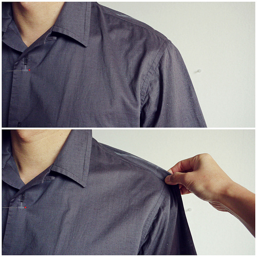Men's shirt: adjusting the muslin