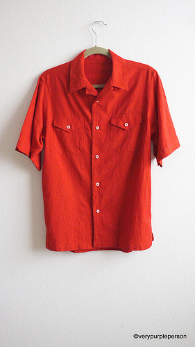 Shot cotton shirt