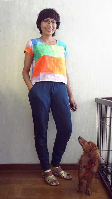 Scout tee and Anima pants