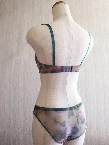 Print mesh bra set