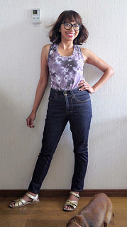 Sandra jeans and Basic tank