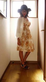 Burdastyle halter dress and Saki shrug