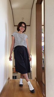 Cropped top and culottes