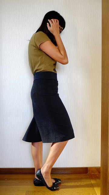 Burdastyle stretch skirt with godet