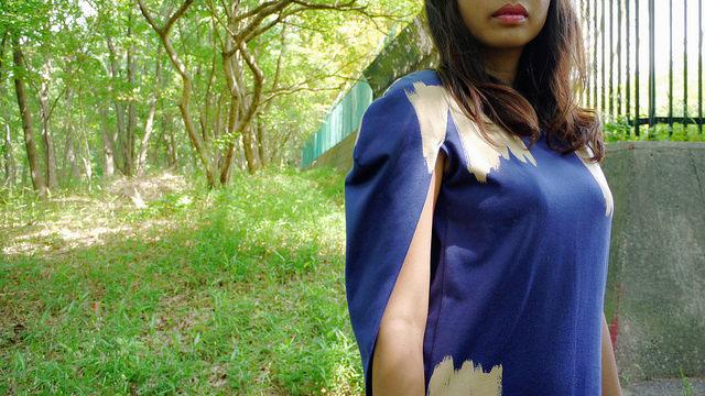 Komani cape dress