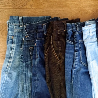 Aging jeans