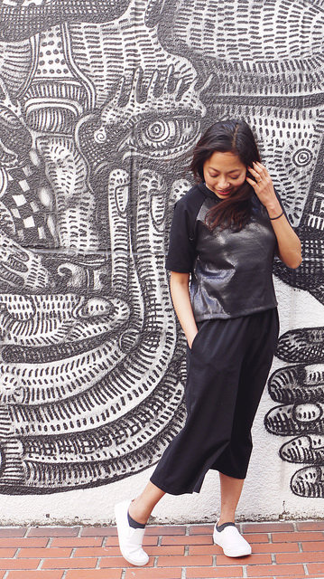Linden sequin T-shirt and Ninni culottes