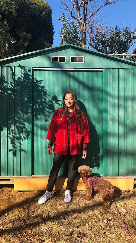 Kochi kimono, Kyoto tee, and Safran jeans